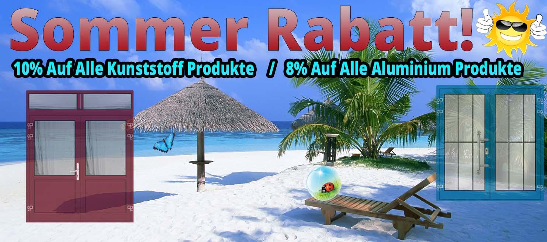 8-10 % Sommer Rabatt!