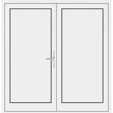 kunststoff haust r 2 fl gelig mit f llung g nstig online kaufen. Black Bedroom Furniture Sets. Home Design Ideas
