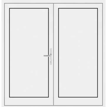 aluminium haust r 2 fl gelig mit f llung. Black Bedroom Furniture Sets. Home Design Ideas