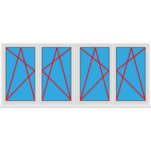 4 fl gelige kunststofffenster online kaufen konfigurieren for Kunststofffenster konfigurieren