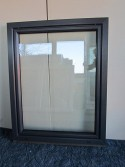 Kunststofffenster Anthrazit Breite 1080 x Höhe 1350 mm