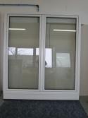 Kunststoff Balkontür 2 Flügler Weiß Breite 1980 x Höhe 2100 mm