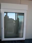 Kunststofffenster Weiß mit Rollladen DKR Breite 1050 x Höhe 1350mm