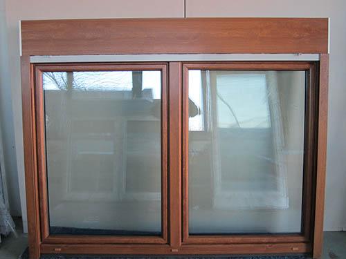 Fenster Konfigurator Schweiz ~ Kunststofffenster Golden Oak 2 Flügler mit Aufsatzrollladen Breite