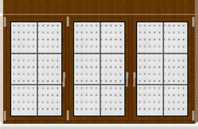 Kunststofffenster 3 Flügelig Dreh Kipp - Dreh Kipp - Dreh Kipp mit Dekor Golden Oak